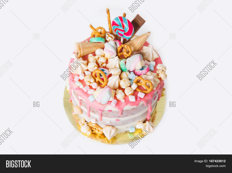 Birthday Cake Decorated Candies Image Photo Bigstock