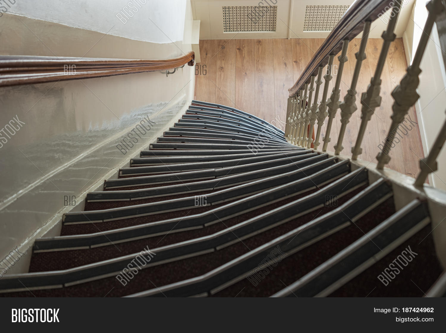 Old stairs in Europe 81