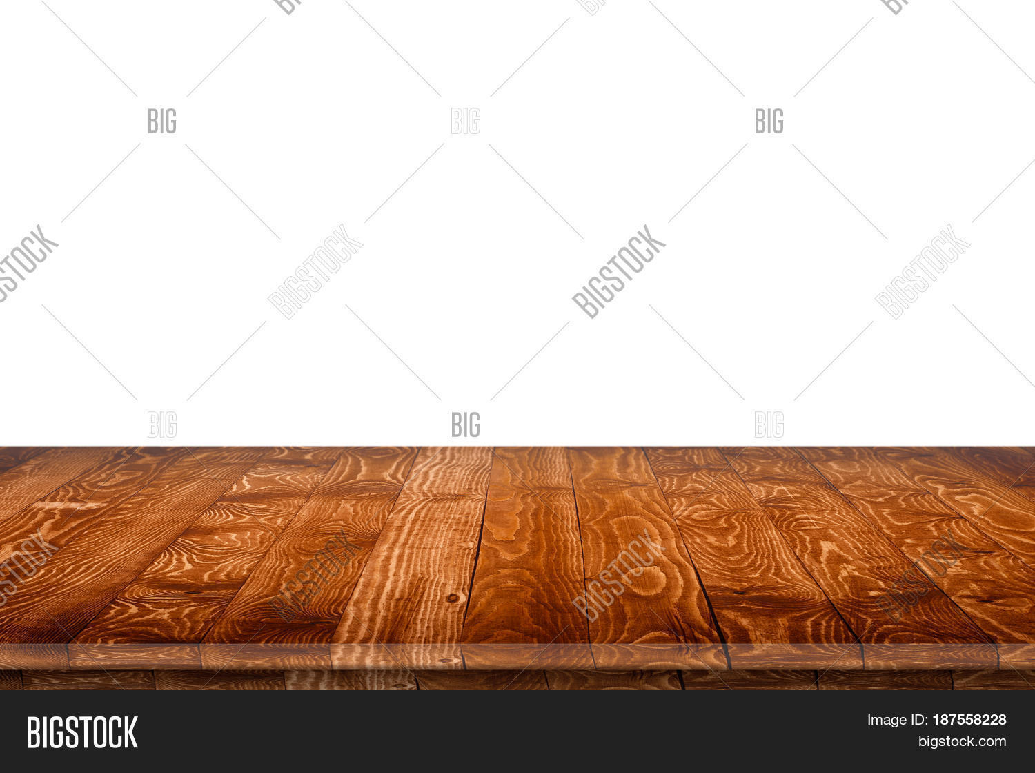 Rustic Wooden Table Perspective Image Photo Bigstock