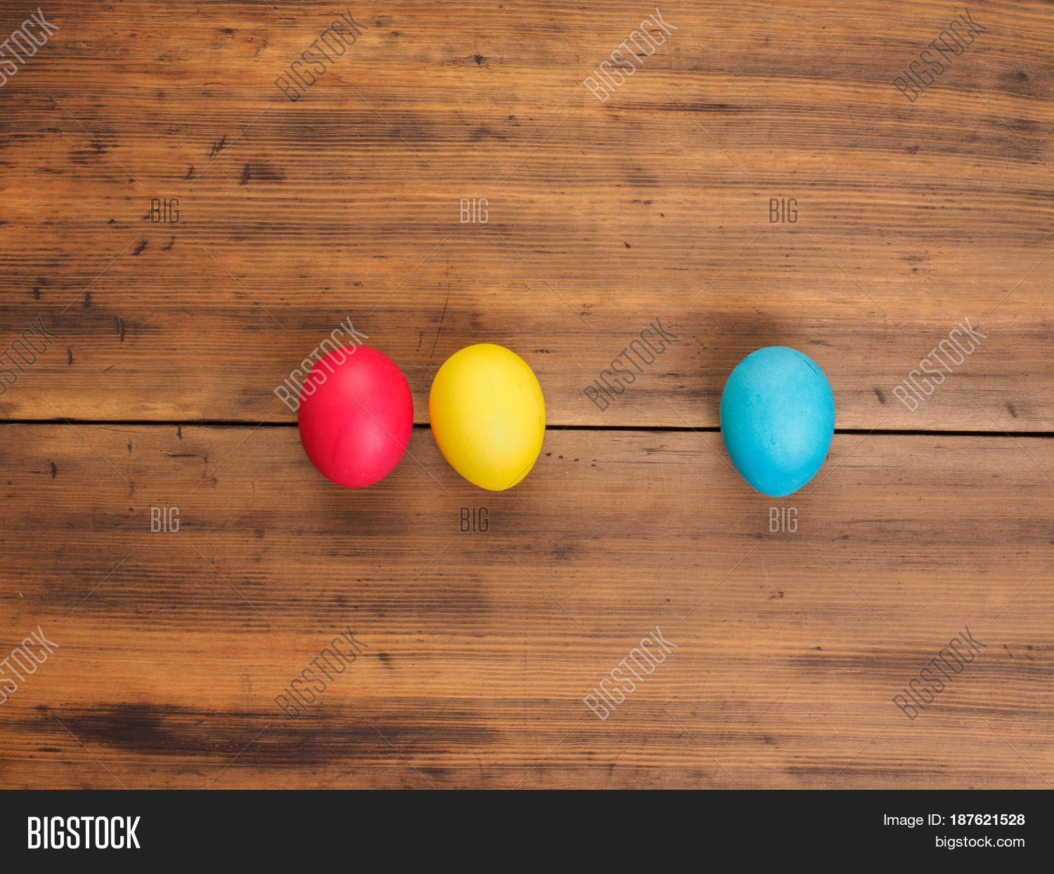 Easter Eggs On Old Image Photo Free Trial Bigstock