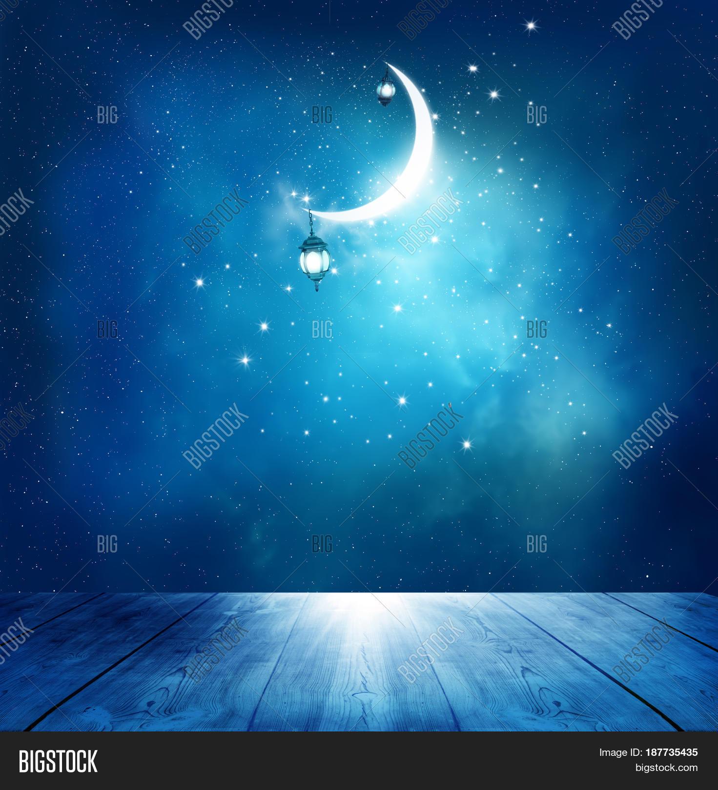 Islamic Greeting Eid Image Photo Free Trial Bigstock