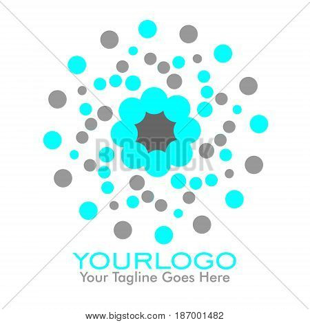 Abtract Dot Illustration icon logo with fun color