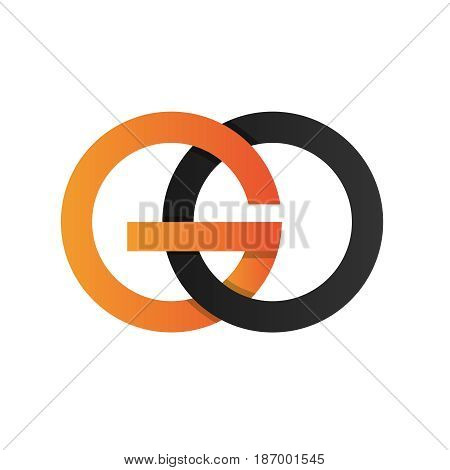 Initial Letter GO Logo Icon with simple gradient Color
