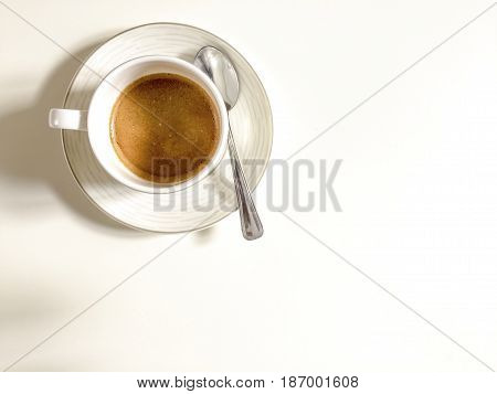 aerial view of a cup of coffee