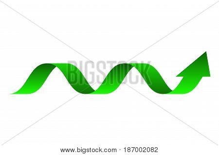 Green arrow. Up arrows, statistic  graphic. Vector illustration isolated on white background