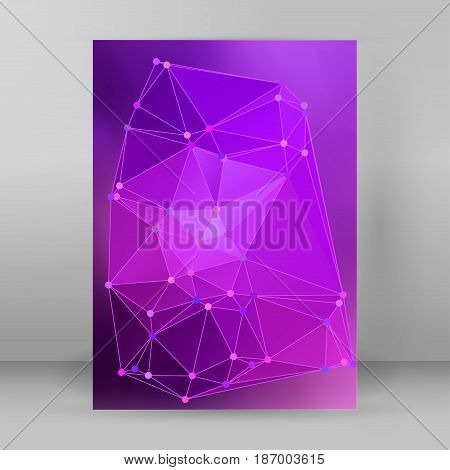 Modern Triangle Background 3D Effect Cover Page Brochure A4 Format21