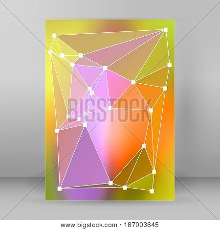 Modern Triangle Background 3D Effect Cover Page Brochure A4 Format22