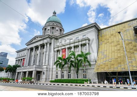 Main Gate To The National Gallery Singapore
