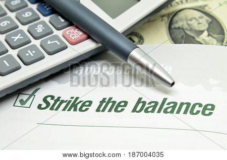 Strike The Balance