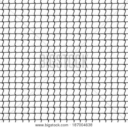 Tennis Net Seamless Pattern Background. Vector Illustration. Rope Net Silhouette.