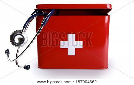 First aid kit medicine first aid emergency medicine emergency medical kit preparedness stethoscope