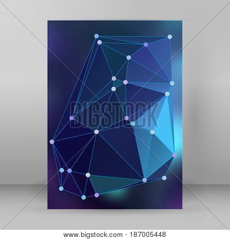 Modern Triangle Background 3D Effect Cover Page Brochure A4 Format23