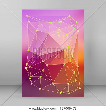 Modern Triangle Background 3D Effect Cover Page Brochure A4 Format25