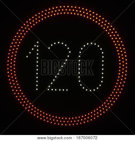 Led Light Speed Limit Sign - 120