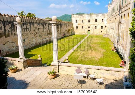 Padova Italy courtyard of the Catajo castle in the euganean hills area