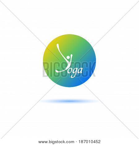 Yoga logo - design template. Health Care, Beauty, Spa, Relax, Meditation Nirvana concept icon