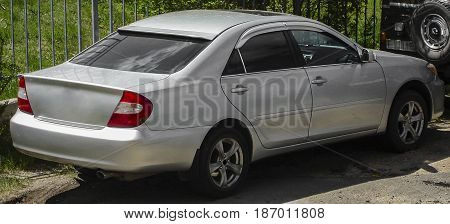 Car, vehicle, gray car rear view , automobile