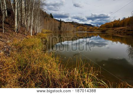 Amazing landscapes of San Juan national forest in Colorado USA