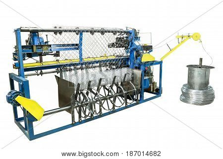 Machine For The Manufacture Of Mesh Netting. Example Difficult Isolate.