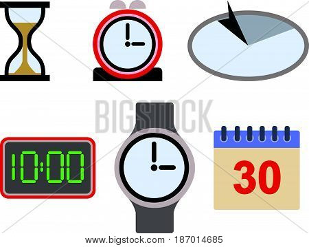 A Vector illustration of Time Icon Asset