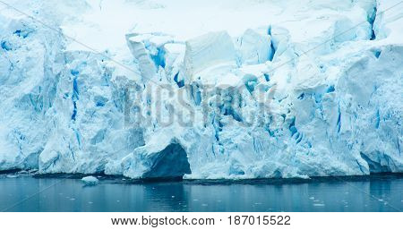 The blue and turquoise hues of the ice and snow along the shoreline of Antarctica are common sights with the coldest continent on Earth.