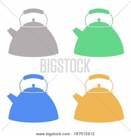 Kettle icon. Vector isolated on white background. Illustration.