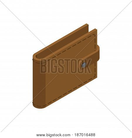 Wallet Isolated. Leather Purse On White Background