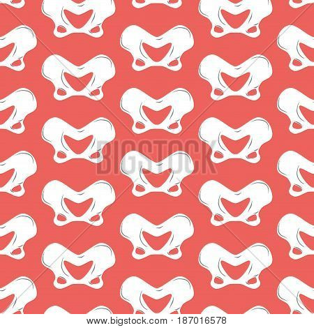Pelvic Bones Seamless Pattern. Bone Ornament. Medical Anatomy Background