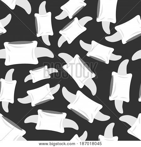 Vertebra Seamless Pattern. Bone Spine Ornament. Medical Anatomy Background
