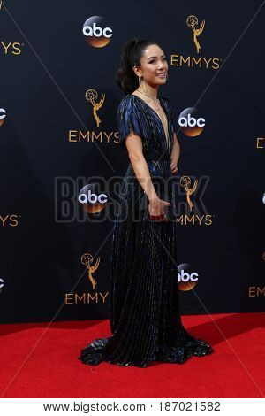 LOS ANGELES - SEP 18:  Constance Wu at the 2016 Primetime Emmy Awards - Arrivals at the Microsoft Theater on September 18, 2016 in Los Angeles, CA