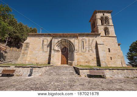 Hermitage in Cervera de Pisuerga Spain .