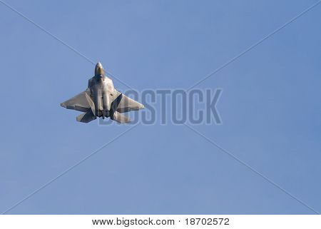 Fighter jet at airshow