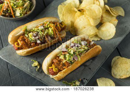 Homemade Slaw Hot Dog