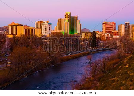 Reno at sunset