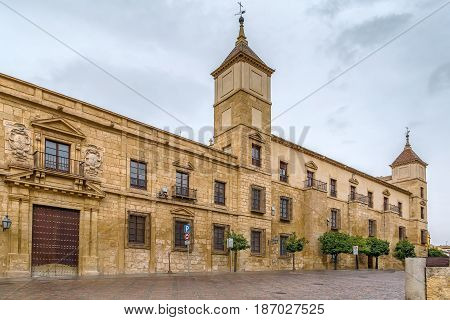 Episcopal Palace is located in the historic centre of Cordoba Spain