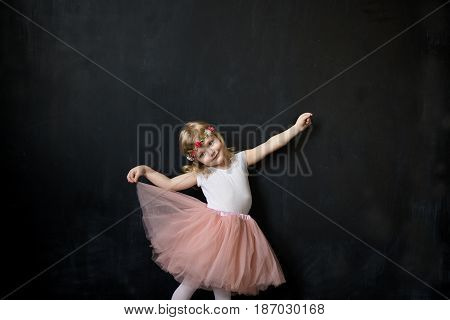 Pretty Girl In A Pink Lush Tulle Skirt