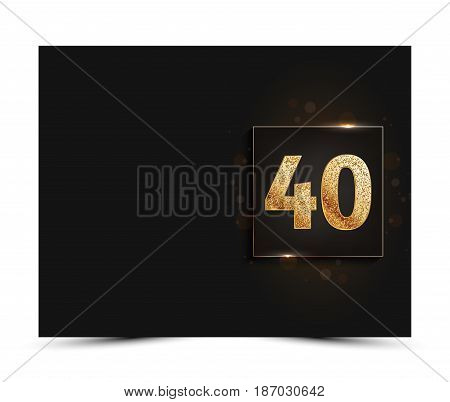 40th anniversary decorated greeting / invitation card template.