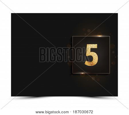 5th anniversary decorated greeting / invitation card template.