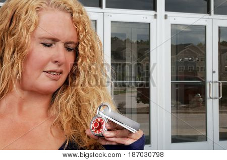 Beautiful young woman on a shopping spree with credit and debit cards