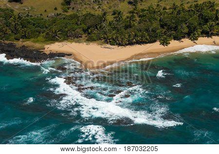 Aerial view of Sainte Marie island Madagascar