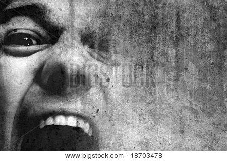 shouting man
