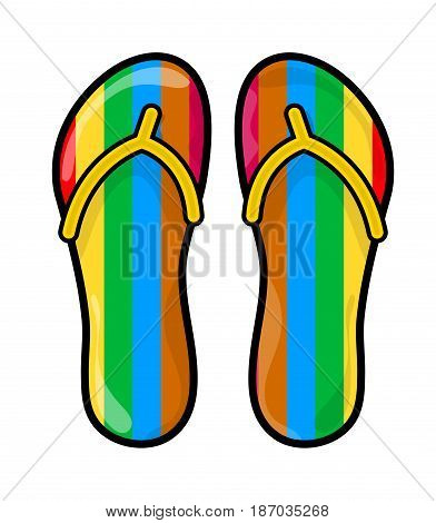 Flip Flops, Slippers Vector Symbol Icon Design.