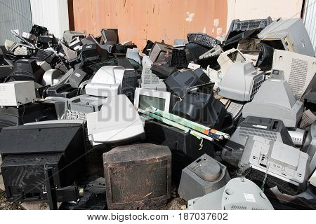 Old Used And Obsolete Electronic Equipment