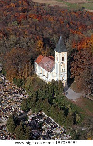 DUBRANEC, CROATIA - NOVEMBER 07: Parish Church of Our Lady of Snow in Dubranec, Croatia on November 07, 2007.