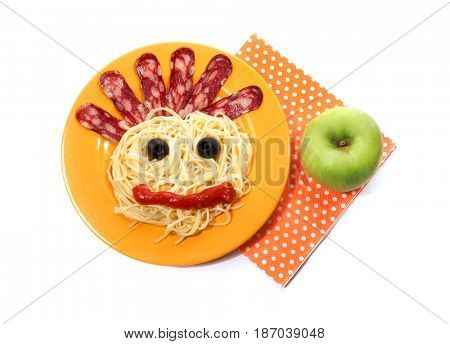 Creative baby breakfast or dinner on Halloween