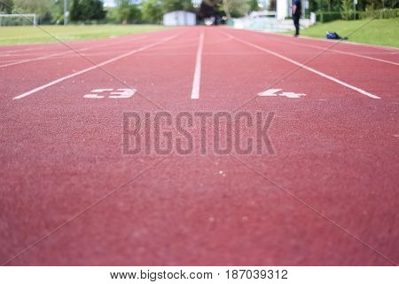 Athletic Running Track, Sports, Recreation, Healthy Life, Sunny Day