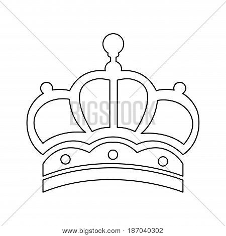 outline crown victorian royalty ornament object vector illustration