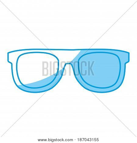 glasses accessory icon over white background. vector illlustration