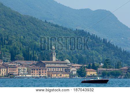 Lake Garda Italy - June 7 2014: Lake Garda