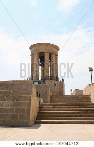 Siege Bell Memorial In Valletta, Malta.